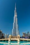 Burj al Khalifa, den mest högväxta byggnaden i världen Royaltyfria Foton