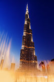 Fountain burj al khalifa Royalty Free Stock Images