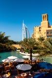 Burj alarab från Souken Madinat Dubai UAE Royaltyfria Bilder