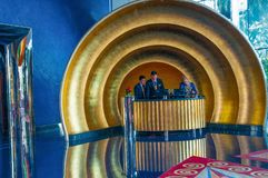 Burj araba hotel, recepcyjny biurko i sala w Dubaj, UAE obraz royalty free