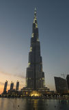 Burj Dubaï - le plus haut gratte-ciel au monde Photos stock