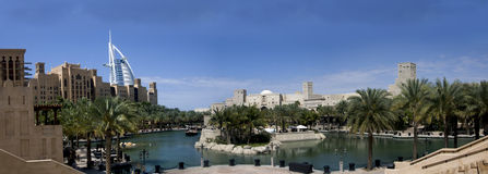 Burj Dubai & Madinath Jumeirah Imagens de Stock Royalty Free