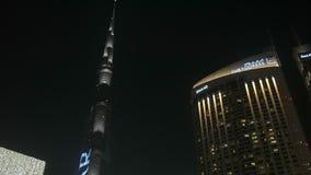 29 2009 burj Dubai e hotelowego khalifa Listopad panoramicznych u widok A e - JAN, 2018: Burj Khalifa basztowy i nowożytny budyne zbiory wideo