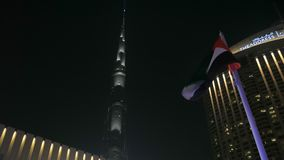 29 2009 burj Dubai e hotelowego khalifa Listopad panoramicznych u widok A e - JAN, 2018: zadziwiający strzał z Burj Khalifa baszt zdjęcie wideo