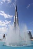 burj Dubai fontanny khalifa zdjęcie royalty free