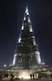burj Dubai khalifa noc Zdjęcie Stock