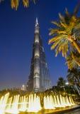 burj Dubai khalifa noc fotografia royalty free