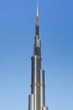 Burj Dubai / Khalifa Perspective Tower View. DUBAI, U.A.E. - NOVEMBER 29 : Burj Dubai Perspective Tower View On A Blue Background Sky, November 29, 2009 in Dubai Royalty Free Stock Photography