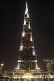 burj Dubai ogólny noc drapacz chmur czas widok Fotografia Royalty Free