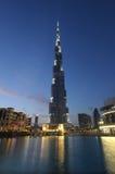 burj Dubai półmroku khalifa obrazy stock