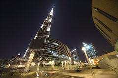 Burj Dubai skyscraper and area Stock Photos