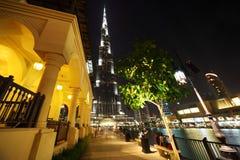 Burj Dubai skyscraper and fountain turned off Stock Photo