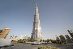 Burj Dubai skyscraper, square with fountains Stock Photography