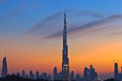 Burj Dubai at sunset Stock Image