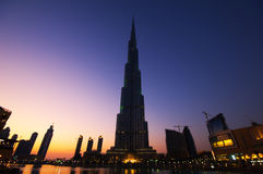 Burj  Dubai the tallest building in the world Stock Photo