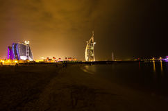 Burj El arab- och emirathotell Royaltyfria Foton