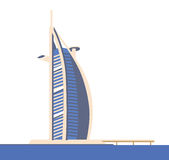Burj hotel dubai Royalty Free Stock Photo