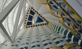 Burj intérieur Al Arab Hotel photographie stock