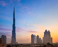 Burj Khaleefa Dubaï Photo libre de droits
