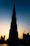 Burj Khalifa är den mest högväxta skyskrapan i världen Arkivfoton