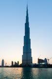 Burj Khalifa är den mest högväxta skyskrapan i världen Royaltyfri Fotografi