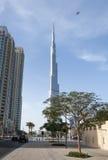 Burj Khalifa και το ξενοδοχείο διευθύνσεων Στοκ εικόνες με δικαίωμα ελεύθερης χρήσης