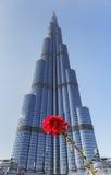 Burj Khalifa - ο παγκόσμιος πιό ψηλός πύργος σε στο κέντρο της πόλης Burj Ντουμπάι Στοκ Εικόνα