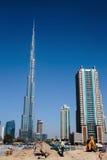 Burj Khalifa - ο παγκόσμιος πιό ψηλός πύργος σε στο κέντρο της πόλης Burj Ντουμπάι Στοκ φωτογραφία με δικαίωμα ελεύθερης χρήσης