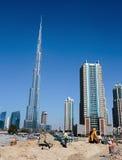 Burj Khalifa - ο παγκόσμιος πιό ψηλός πύργος σε στο κέντρο της πόλης Burj Ντουμπάι Στοκ Φωτογραφία