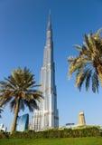 Burj Khalifa - ο παγκόσμιος πιό ψηλός πύργος σε στο κέντρο της πόλης Burj Ντουμπάι Στοκ Εικόνες