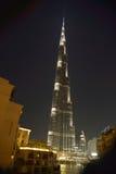 Burj Khalifa τη νύχτα Στοκ φωτογραφία με δικαίωμα ελεύθερης χρήσης