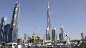 burj khalifa του Ντουμπάι απόθεμα βίντεο