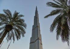 Burj Khalifa, башня мира самая высокорослая в Дубай стоковое изображение