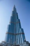 Burj Khalifa - башня мира самая высокорослая на городском Burj Дубай Стоковые Фото