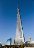 Burj Khalifa - башня мира самая высокорослая на городском Burj Дубай Стоковая Фотография RF