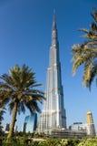 Burj Khalifa - башня мира самая высокорослая на городском Burj Дубай Стоковые Изображения