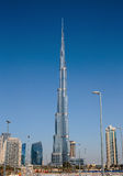Burj Khalifa - башня мира самая высокорослая на городском Burj Дубай Стоковое фото RF