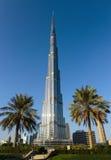 Burj Khalifa - башня мира самая высокорослая на городском Burj Дубай Стоковое Изображение
