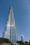 Burj Khalifa - башня мира самая высокорослая на городском Burj Дубай Стоковые Изображения RF