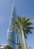 Burj Khalifa - башня мира самая высокорослая на городском Burj Дубай Стоковая Фотография