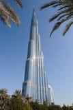 Burj Khalifa - башня мира самая высокорослая на городском Burj Дубай Стоковое Изображение RF