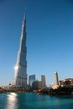 Burj Khalifa - башня мира самая высокорослая на городском Burj Дубай Стоковые Фотографии RF