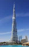 Burj Khalifa - башня мира самая высокорослая на городском Burj Дубай Стоковое Фото