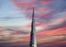 Burj Khalifa (башня Khalifa), известное как Burj Дубай до своей инаугурации, Объединенные эмираты Стоковая Фотография