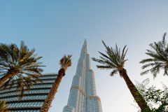 Burj Khalifa (башня Khalifa), известное как Burj Дубай до своей инаугурации, Объединенные эмираты Стоковая Фотография RF