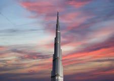 Burj Khalifa (башня) Khalifa, Дубай Стоковая Фотография RF