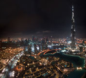 Burj Khalifa. View on Burj Khalifa at night Stock Image