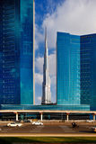 Burj Khalifa as seen from Sheikh Zayed Road in Dubai, UAE Stock Photo