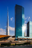 Burj Khalifa as seen from Sheikh Zayed Road in Dubai, UAE Royalty Free Stock Images