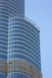 Burj Khalifa avec le ciel bleu clair à Dubaï, le bâtiment le plus grand du monde photos stock